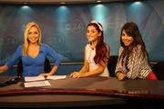 Ariana Grande & Daniella Monet on the morning news in Memphis