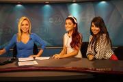 Ariana Grande & Daniella Monet on the morning news in Memphis
