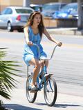 Isabel Lucas   Riding a Bike in LA   August 24   19 leggy pics