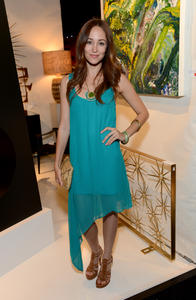 Autumn Reeser -  L.A. Modernism Show & Sale at Barker Hangar in Santa Monica - April 25, 2013