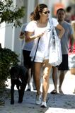 Minnie Driver Walking Her Dog in Brentwood, 7/8/07 - 12 HQ